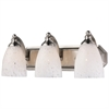 ELK lighting Bath And Spa 3 Light Vanity In Satin Nickel And Snow White Glass