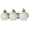 Bath And Spa 3 Light Vanity In Satin Nickel And White Glass