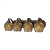 ELK lighting Bath And Spa 4 Light Vanity In Aged Bronze And Gold Leaf Glass