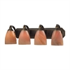 ELK lighting Bath And Spa 4 Light Vanity In Aged Bronze And Sandy Glass