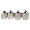 ELK lighting Bath And Spa 4 Light Vanity In Polished Chrome And Silver Glass