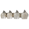 Bath And Spa 4 Light Vanity In Satin Nickel And Silver Glass