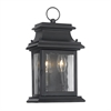Provincial Outdoor Wall Lantern In Charcoal And Water Glass