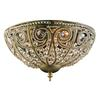 Elizabethan 3 Light Flushmount In Dark Bronze And Crystal