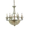 ELK lighting Elizabethan 10 Light Chandelier In Dark Bronze