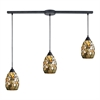 Trego 3 Light Pendant In Dark Rust