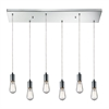 ELK lighting Menlow Park 6 Light Pendant In Polished Chrome