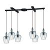 ELK lighting Menlow Park 6 Light Pendant In Oil Rubbed Bronze
