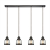 ELK lighting Menlow Park 4 Light Pendant In Oil Rubbed Bronze