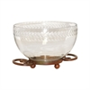 Pomeroy Burnham Bowl Small, Burned Copper,Clear