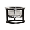 Pomeroy Soho Individual Appetizer Bowl, Black,Clear