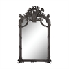 Renaissance Scroll Mirror In Black Ash