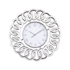 Sterling Chatelaine Clock with Mirror Clear