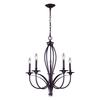 ELK lighting Medford 5 Light Chandelier In Oiled Bronze