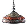 ELK lighting Jewelstone 3 Light Chandelier In Classic Bronze