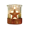 Pomeroy Ranch Votive, Montana Rustic,Clear