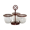 Pomeroy Savanna Triple Server, Montana Rustic,Clear