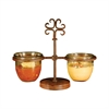 Pomeroy Tejas Double Server, Montana Rustic,Clear
