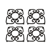 Borders Set of 4 Trivets
