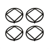 Lex Set of 4 Round  Trivets