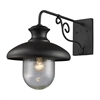 ELK lighting Streetside Cafe 1 Light Outdoor Wall Sconce In Matte Black