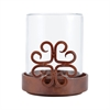 Pomeroy Tejas Pillar Holder, Montana Rustic,Clear