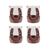 Horse Shoe Set of 4 Votives