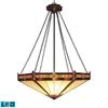 ELK lighting Filigree 3 Light LED Pendant In Aged Bronze