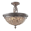 Renaissance 3 Light Semi Flush In Sunset Silver
