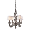 Renaissance 4 Light Chandelier In Sunset Silver