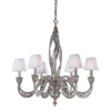 Renaissance 6 Light Chandelier In Sunset Silver