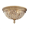 ELK lighting Renaissance 2 Light Flushmount In Dark Bronze