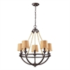 ELK lighting Natural Rope 5 Light Chandelier In Aged Bronze