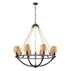ELK lighting Natural Rope 8 Light Chandelier In Aged Bronze