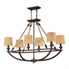 ELK lighting Natural Rope 6 Light Chandelier In Aged Bronze