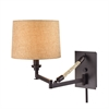 Natural Rope 1 Light Swingarm In Oil Rubbed Bronze