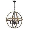 ELK lighting Natural Rope 4 Light Chandelier In Oil Rubbed Bronze