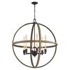 ELK lighting Natural Rope 6 Light Chandelier In Oil Rubbed Bronze