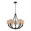 ELK lighting Morrison 5 Light Chandelier In Oil Rubbed Bronze