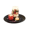 Hearth Candle Garden, Espresso,Red,Wheat