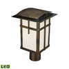 ELK lighting San Fernando 1 Light Outdoor LED Post Light In Hazelnut Bronze - Title 24 Compliant