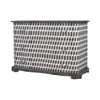 Heritage Chest In Heritage Grey Stain With Hand Painted Geometric Art