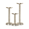 Urban S3 Polished Pillar Holders, Polished Aluminum