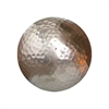 Pomeroy Urban Hammered 4-Inch Sphere, Silver