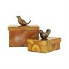 Pomeroy Woodlands Set of 2 Boxes, Burned Copper