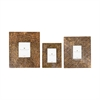 Embossed Frames - Set of 3, Antique Bronze