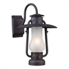 ELK lighting Chapman 1 Light Sconce In Matte Black And Acid Etched Glass