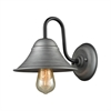 Binghamton 1 Light Wall Sconce In Weathered Zinc And Oil Rubbed Bronze