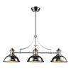 Chadwick 3 Light Billiard In Polished Nickel
