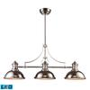 Chadwick 3 Light LED Billiard In Polished Nickel